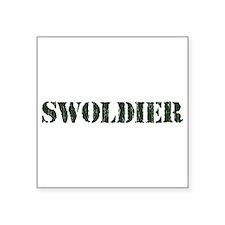 Swoldier Swole US Soldier Sticker