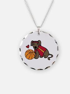 Basketball Dog Necklace