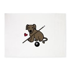 Billiard Dog 5'x7'Area Rug