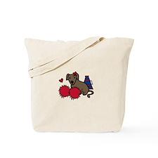 Cheerleader Dog Tote Bag