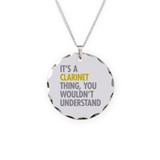 Its A Clarinet Thing Necklace Circle Charm