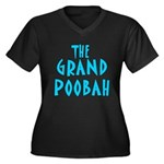 Grand Poobah Women's Plus Size V-Neck Dark T-Shirt