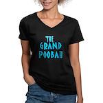 Grand Poobah Women's V-Neck Dark T-Shirt