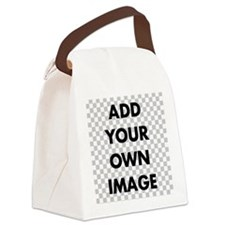 Custom Add Image Canvas Lunch Bag