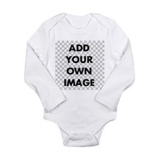 Custom Add Image Long Sleeve Infant Bodysuit