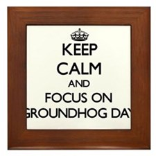 Unique Groundhogs Framed Tile