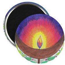 "Rainbow Flame 2.25"" Magnet (10 pack)"