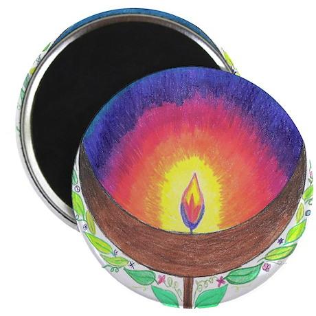 Rainbow Flame Magnet
