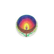 Rainbow Flame Mini Button (10 pack)