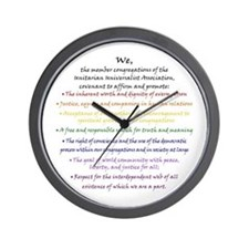 Rainbow Principles Wall Clock