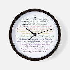 Rainbow Principles Wall Clock