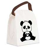 Panda Canvas Lunch Bag