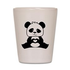 Panda's hands showing love Shot Glass