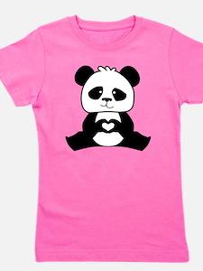 Panda's hands showing love Girl's Tee