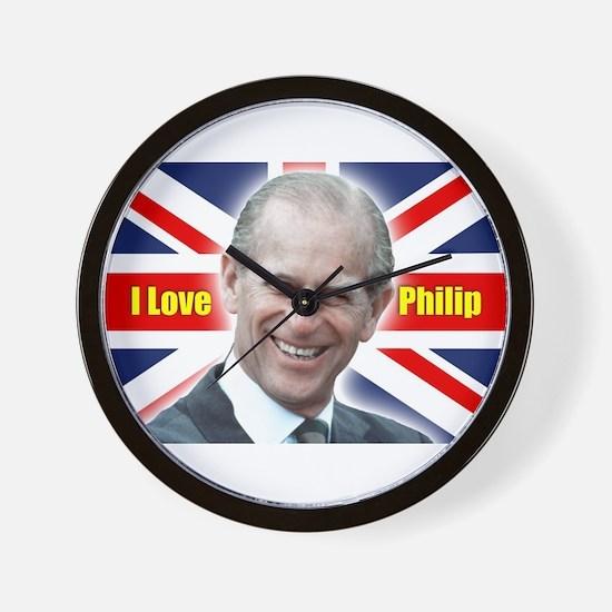 I Love Philip - Prince Philip Wall Clock