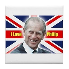 I Love Philip - Prince Philip Tile Coaster