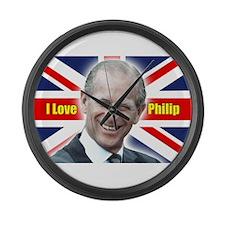 I Love Philip - Prince Philip Large Wall Clock