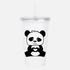Panda's hands showing Acrylic Double-wall Tumbler