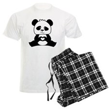 Panda's hands showing love Pajamas