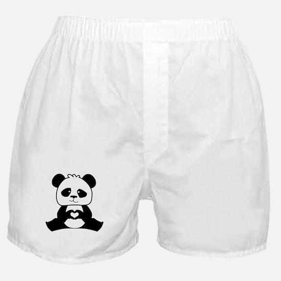 Panda's hands showing love Boxer Shorts