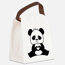 Panda's hands showing love Canvas Lunch Bag