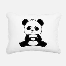 Panda's hands showing lo Rectangular Canvas Pillow