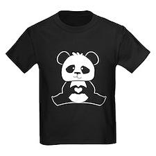 Panda's hands showing love T