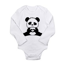 Panda's hands showing Long Sleeve Infant Bodysuit