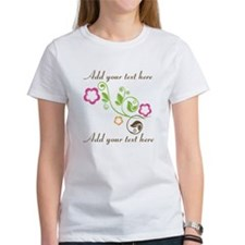 Custom add text flowers Tee