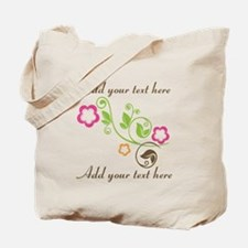 Custom add text flowers Tote Bag