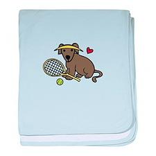 Tennis Dog baby blanket