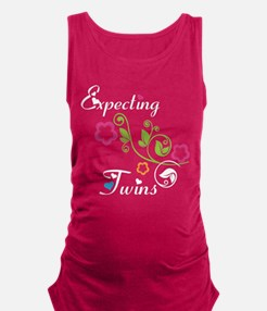 Funny Twins Maternity Tank Top