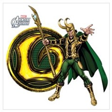 Loki Icon Wall Art Poster