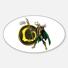 Loki Icon Sticker (Oval)