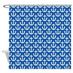 Anchors Away Blue Shower Curtain