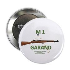 """M1 Garand 2.25"""" Button With Patton Quote"""