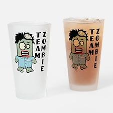 Team Zombie Drinking Glass