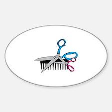 Comb & Scissors Decal