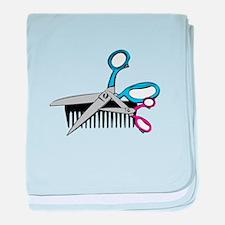 Comb & Scissors baby blanket