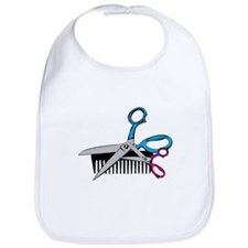 Comb & Scissors Bib