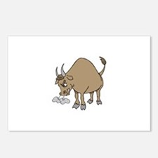 Bull Cattle Animal Postcards (Package of 8)