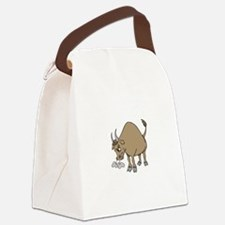 Bull Cattle Animal Canvas Lunch Bag