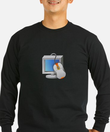 Computer Monitor Mouse Long Sleeve T-Shirt