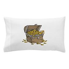 Treasure Chest Gold Money Pillow Case