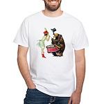 Drumming Bear White T-Shirt