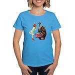 Drumming Bear Women's Dark T-Shirt