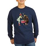 Drumming Bear Long Sleeve Dark T-Shirt