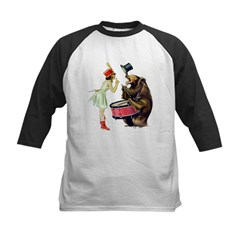 Drumming Bear Kids Baseball Jersey