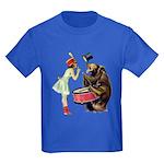 Drumming Bear Kids Dark T-Shirt