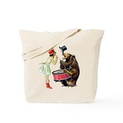 Drumming Bear Tote Bag